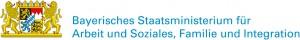 Wort-Bildmarke des Bayerischen Staatsministeriums für Arbeit und Soziales, Familie und Integration