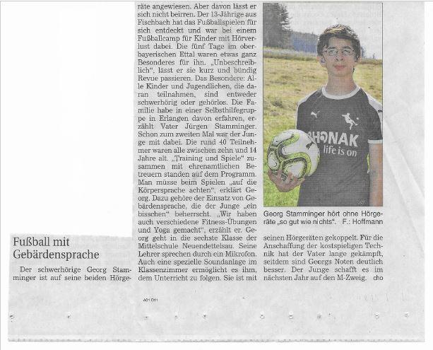 Bericht in den Ansbacher Nachrichten